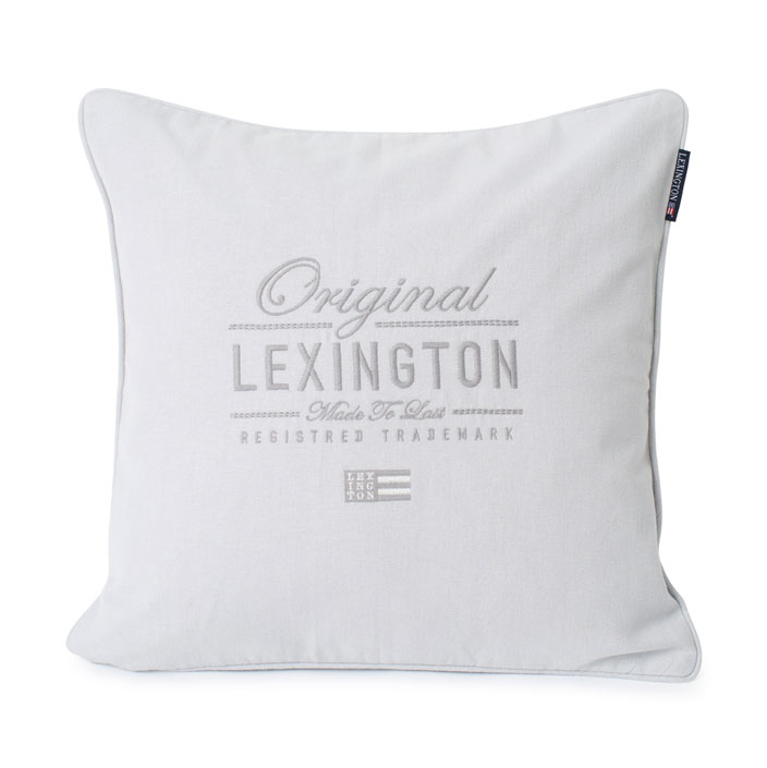 Lexington Original Logo Cotton Herringbone prydnadskudde